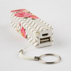 Tilly's Audiology Chevron Floral Portable Phone Charger