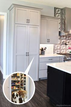 Tall Kitchen Pantry Cabinet, Kitchen Pantry Design, Modern Kitchen Design, Home Decor Kitchen, Wall Pantry, Corner Kitchen Pantry, Kitchen Ideas, Pantry Ideas, Apartment Kitchen