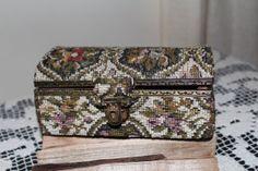 Vintage Carpet Tapestry Travel Jewelry Trinket by TreasuresFromUs