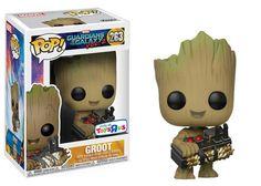 Funko Pop Vinyl Marvel Guardians of the Galaxy Vol. 2 Baby Groot With Shield. Figurines D'action, Pop Figurine, Figurines Funko Pop, Baby Groot, Groot Toy, Funk Pop, Funko Pop Marvel, Lego Marvel, Vinyl Figures