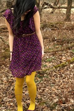 Yellow and purple, my two favorite colors. <3 the whole outfit
