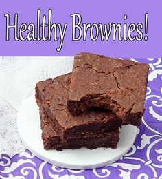 "The healthy brownie recipe that even ""non healthy eaters"" have said tastes just as good as boxed brownies!"