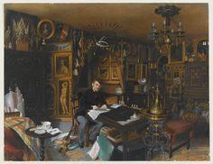 Inventaire du département des Arts graphiques - Charles Sauvageot dans son appartement du 56 rue du faubourg Poissonnière - Charles Sauvageot (Parigi 1781-1860)