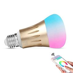 cool Expower Smart WiFi Light,E27 Smart Bulb Dimmable 6.5W RGB Led Bulb Compatible with Alexa Echo Remote Control by IPhone Smartphone IOS & Android Google Home,50W Equivalent