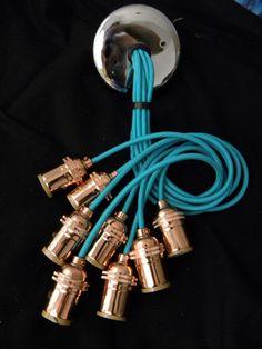 7 Cluster Pendant Light - Multi Pendant Chandelier Light - Ceiling Fixture Copper - Hanging Lamp -Clustered Pendants - Custom Chandelier by HangoutLighting on Etsy https://www.etsy.com/ca/listing/201845821/7-cluster-pendant-light-multi-pendant