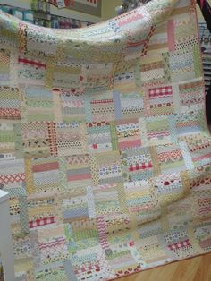 20130215-175051.jpg  Cyndi Widman's Sunday Morning quilt (low volume) featured on May Chappell blog. Photographed at Linderella's in Southern Pines.