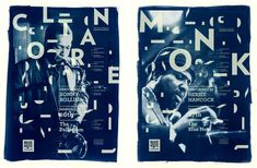Student Work: Aldis Ozolins: Blue Note Legend Posters