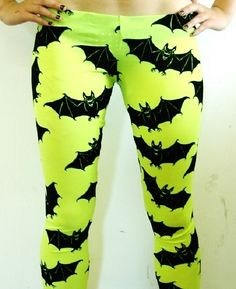 Neon bat tights :)
