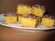 *O cantinho da Tila*: Quadrados de ananás e coco