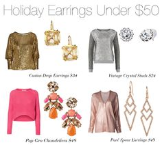 Get your Holiday Earrings Under $50 by Stella & Dot today!           Shop these accessories at www.stelladot.com/nicolecordova