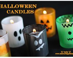 Easy and cheap DIY Halloween Candles
