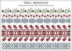 Semne Dolj Folk Embroidery, Learn Embroidery, Embroidery Patterns, Knitting Patterns, Cross Stitch Borders, Cross Stitch Patterns, Point Lace, Beading Projects, Embroidery Techniques