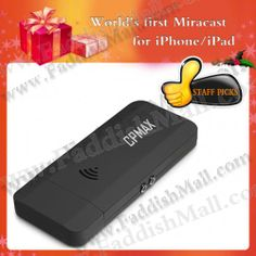 The world's first iphone/ipad miracast have finally come, are you ready? Just go for it: http://www.faddishmall.com/wifi-miracast-hdmi-dongle-for-ios-android-os-window-w-free-shipping.html