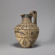 Oinochoe in the Camirus,  used to serve wine , Grece ca. 625-600 BC (Archaic)