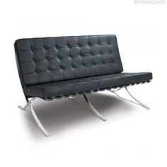 Buy Mies Van Der Rohe Style Pavillion Barcelona Style 2 Seater Sofa with FREE UK delivery. Swivel UK supply the highest quality reproduction furniture to buy online. Sofa Design, Canapé Design, Loveseat Sofa, 2 Seater Sofa, Eames Chair Replica, Bubble Chair, Library Chair, Reproduction Furniture, Ball Chair