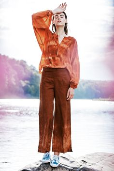 lily wide leg in rust