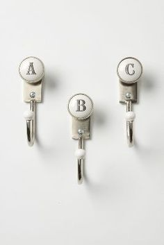 Letter Wall Hooks - Anthropologie