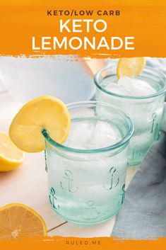 Most lemonade products — from ready-to-drink beverages to powder mixes — are packed with sugar. For a refreshing lemonade that is both refreshing and healthy, your best option is making it yourself. All you'll need is three ingredients and this keto lemonade recipe! #ketodrinks #ketolemonade Ketogenic Recipes, Low Carb Recipes, Real Food Recipes, Drink Recipes, Keto Coffee Recipe, Almond Milk Recipes, Keto Fruit, Low Carb Drinks, Low Carb Ice Cream