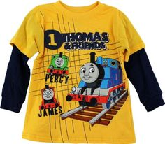 "Thomas & Friends ""Thomas, Percy & James"" Yellow « Clothing Impulse"