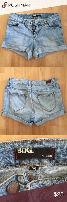 BDG denim shorts BDG denim shorts from urban outfitters. Worn only a few times and still in great condition! Pretty sure these are size 29 but the size label is a little faded as shown in the pic. Urban Outfitters Shorts Jean Shorts