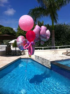 Baby Shower Pool Party Ideas pool party baby shower pool party invitations its a summer baby shower splash Baby Shower Balloon Bouquet Over A Pool