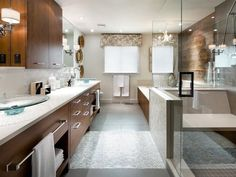 Contemporary Bathrooms from  on HGTV