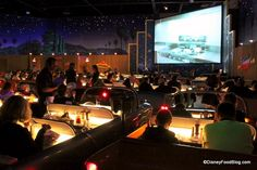 Enjoy Good Food and Campy Movie Clips at the Sci-Fi Dine-In Theater at Disney's Hollywood Studios