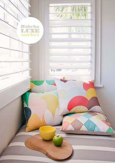 Colour pillows
