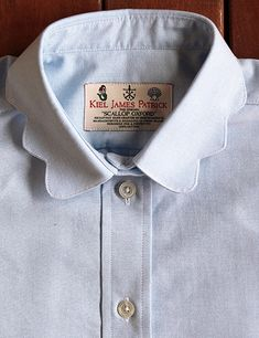 Southern Royalty: The Scalloped Oxford shirt - Perfect for work by Kiel James Patrick - Country Club Prep