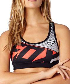 Love this Black & Orange 'Fox' Racerback Sports Bra by Fox on #zulily! #zulilyfinds