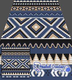 Native American Inspired SC Queen Blanket Crochet Pattern - PDF Download