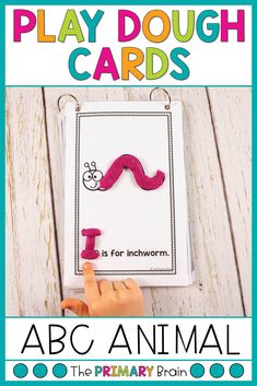 Your students will love practicing the alphabet with these animal play dough cards! With each card they will work on letter names and animal names while filling the illustrations with play dough. Children will love decorating their own animals as they learn letters from A to Z. Just print, laminate,...