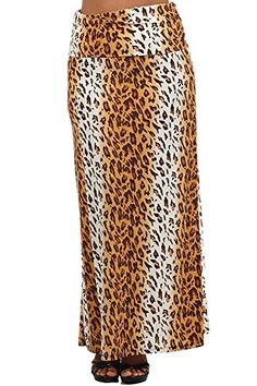 Tan and White Leopard High Waist Plus Size Maxi Skirt USA... http://www.amazon.com/dp/B00OPFQWOY/ref=cm_sw_r_pi_dp_x0Yvxb1PBAXBH
