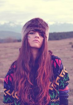 Love her hair and hat