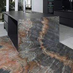 Pic: Kitchen by Antolini - Dive in our selection of projects highlighting the marvellous applications of marble and stones for interior spaces // Cuisines Design, Kitchen Countertops, Interior Design Living Room, Architecture Design, Kitchen Decor, Furniture Design, House Design, Home Decor, Stones