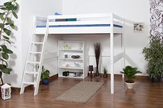 Lit pour enfants / lit mezzanine Christoph hêtre massif laqué en blanc avec sommier déroulable - 140x200 cm Steiner Shopping http://www.amazon.fr/dp/B00MY6RO2K/ref=cm_sw_r_pi_dp_VhGkwb0TXX6NN