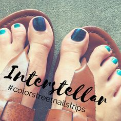 Interstellar Design by Color Street as Accent Nail. It's a #vegan & #nontoxic dry nail polish strip that's easy to apply + lasts 14 days!! DIY #nails on the quick!! Shop Link #becolorstreet #colorstreet #nailpolish