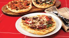 Grilled Pizza recipe that calls for adding the herbs and pepper right to the dough. Get creative!