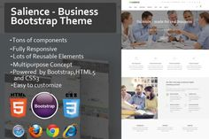 nice Salience - Business Bootstrap Theme