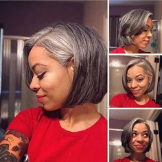 XMAS EVE 2017 – 14 months progress and loving my new cut! XMAS EVE 2017 – 14 months progress and loving my new cut! Natural Hair Bob, Natural Hair Styles, Grey Bob Hairstyles, Silver Haired Beauties, Grey Hair Inspiration, Grey Hair Don't Care, Gray Hair Growing Out, Asymmetrical Bob Haircuts, Salt And Pepper Hair