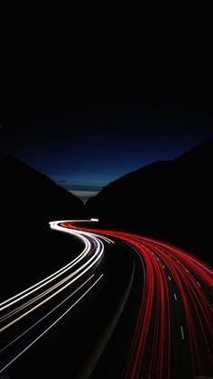 STREET CAR LIGHTS NIGHT WALLPAPER HD IPHONE