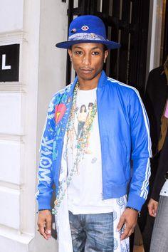 Pharrell Williams mit Eyeliner