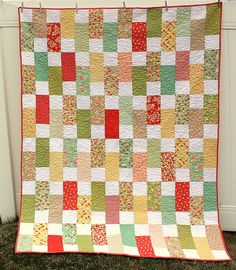 Strawberry Fields Bricks Quilt Tutorial | Flickr - Photo Sharing!