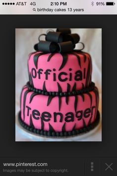 This cake is a great 13 year old birthday cake!
