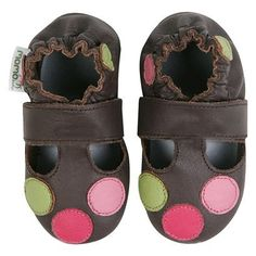 $16.99  Momo Baby Soft Sole Baby Sandal Shoes - Circles Brown 0-6m