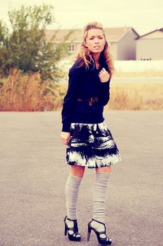 I am really kind of digging the knee highs with heels...