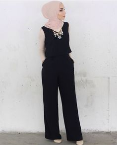 Black jumpsuit with rose and statement - check out: Esma <3