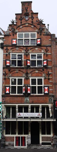 Monumental house D'coninck van Poortugael in Utrecht, The Netherlands