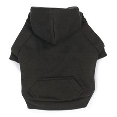 Fleece Lined Dog Hoodie by Zack & Zoey - Black ( SMALL)