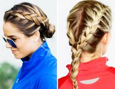 9 Workout Hairstyles Even the Sweatiest Gym Sesh Won't Destroy 7 Stay-Put Hairstyles For Your Sweati Running Hairstyles, Athletic Hairstyles, Easy Work Hairstyles, Softball Hairstyles, Workout Hairstyles, Braided Hairstyles, Hairstyles For School, Cute Sporty Hairstyles, Hairstyles 2018